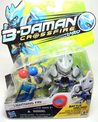 B-Daman Crossfire - 3 inch figure - BD-02 Lightning Fin Hasbro, B-Daman, Action Figures, 2013, scifi, game