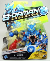B-Daman Crossfire - 3 inch figure - BD-01 Thunder Dracyan Hasbro, B-Daman, Action Figures, 2013, scifi, game