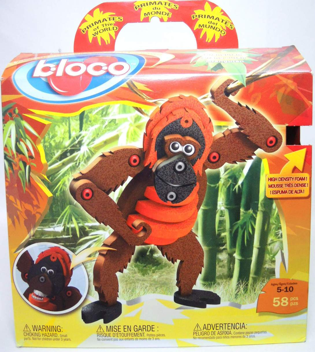 Bloco Toys Building Set - Orangutan (58 foam pieces) Bloco Toys, Bloco, Legos & Mega Bloks, 2010