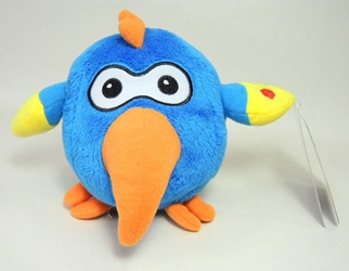 Chuckimals 5 inch plush - blue parrot