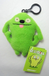 Uglydoll Clip-On 4 inch Groody (green) Pretty Ugly, Uglydoll, Plush, 2002, cute animals