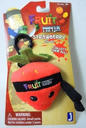 Fruit Ninja 2.5 inch plush clip-on - Strawberry Jazwares, Fruit Ninja, Plush, 2011, kidfare, video game