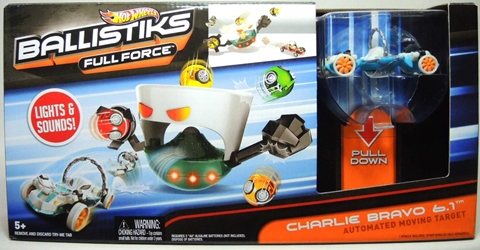 Hot Wheels Ballistiks Charlie Bravo 6.1 Moving Target Mattel, Ballistiks, Action Figures, 2012