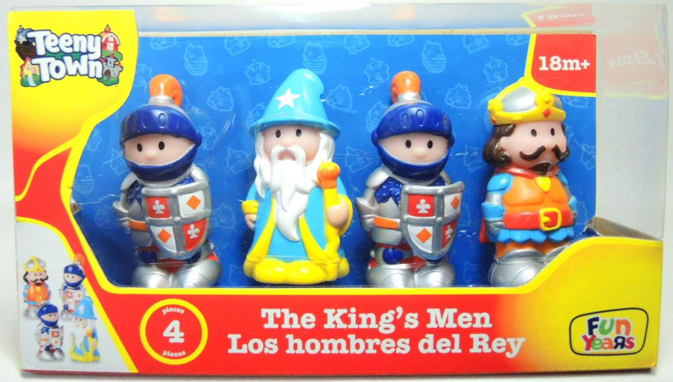 Teeny Town The Kingss Men 3 inch figures 4-pack Fun Years, Teeny Town, Action Figures, 2012, kidfare