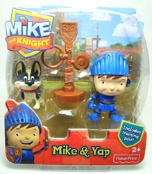 Fisher-Price Mike the Knight 3 inch figure - Mike & Yap Fisher-Price, Mike the Knight, Action Figures, 2012, kidfare