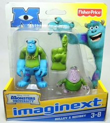 Fisher-Price Imaginext Monsters University 2.7 inch Sulley & Squishy Fisher-Price, Imaginext, Action Figures, 2012, adventure
