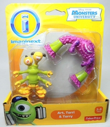 Fisher-Price Imaginext Monsters University 2.7 inch Art Terri & Terry