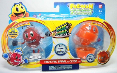 Pac-Man - Pac-Panic Spinners Spiral and Clyde Bandai, Pac-Man, Action Figures, 2013, cute animals, video game