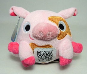 Scanimalz Series 1 Silly Pigabyte (pig) Wicked Cool, Scanimalz, Plush, 2012, cute animals