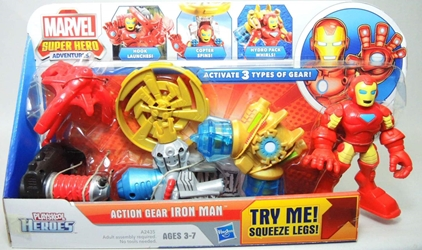 Playskool Marvel Super Hero Adventures Action Gear Iron Man Figure Playskool, Marvel, Action Figures, 2012, superhero, comic book