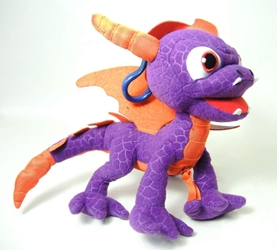 Skylanders 7 inch plush Clip-On Coin Purse - Spyro (dragon) Just Play, Skylanders, Plush, 2012, fantasy, video game