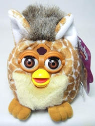 Furby Buddies - My Name is Happy Sleep! (giraffe fur) Tiger Electronics, Furby, Plush, 1999, cute animals