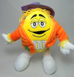 m&m 10 inch plush - yellow m&m Galerie, M&M, Plush, 2004, animated