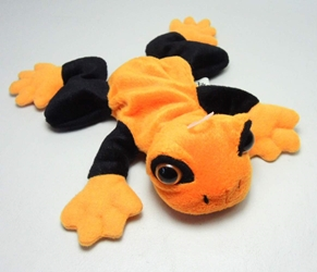 Halloween Trick or Treat Beanie - Orange Tree Frog