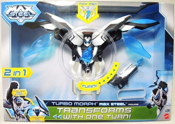 Max Steel - Turbo Morph Max Steel Deluxe Figure Mattel, Max Steel, Action Figures, 2013, adventure