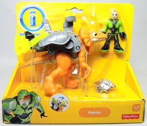 Fisher-Price Imaginext Dinosaur - Raptor & rider figure Fisher-Price, Imaginext, Action Figures, 2013, adventure