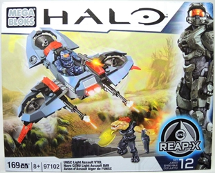 Mega Bloks Halo 97102 UNSC Light Assault VTOL Mega Bloks, Halo, Legos & Mega Bloks, 2013, scifi, video game