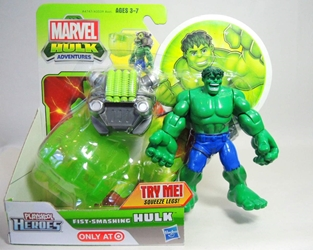 Playskool Marvel Hulk Adventures - Fist Smashing Hulk Playskool, Hulk, Action Figures, 2012, superhero, comic book