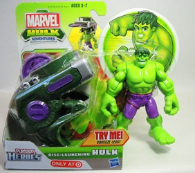 Playskool Marvel Hulk Adventures - Disc-Launching Hulk Playskool, Hulk, Action Figures, 2012, superhero, comic book