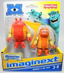 Fisher-Price Imaginext Monsters University 3 inch George & Big Red Fisher-Price, Imaginext, Action Figures, 2012, adventure