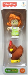 Fisher-Price Little People 2-pack Sofie & Chicken Fisher-Price, Little People, Action Figures, 2013, kidfare