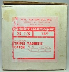 Brass Triple Heavy Duty Magnetic Catch (25 pack) David Allison, David Allison, Home - Magentic Catches, 1990
