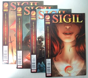 Marvel Crossgen Sigil issues 1-4 complete series Marvel, Sigil, Comic Books, 2011, fantasy, comic book