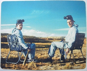Breaking Bad mouse pad - Walter & Jesse resting in folding chairs China, Breaking Bad, Mouse Pads, 2015, action, tv show