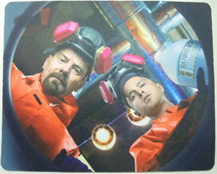 Breaking Bad mouse pad - Walter & Jesse cooking in the new lab China, Breaking Bad, Mouse Pads, 2015, action, tv show
