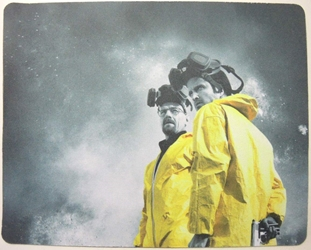 Breaking Bad mouse pad - Walter & Jesse in yellow hazard suits China, Breaking Bad, Mouse Pads, 2015, action, tv show