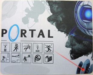 Portal mouse pad - Vectored Portal Icons China, Portal, Mouse Pads, 2015, scifi, video game