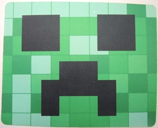 Minecraft mouse pad - Creeper head (green)