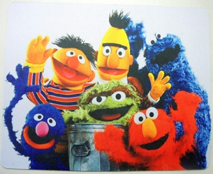 Sesame Street mouse pad - The whole gang China, Sesame Street, Mouse Pads, 2015, easter