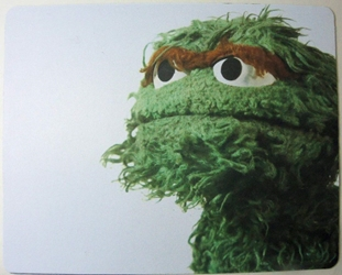 Sesame Street mouse pad - Oscar the Grouch China, Sesame Street, Mouse Pads, 2015, easter