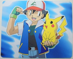 Pokemon mouse pad - Pikachu & trainer Ash China, Pokemon, Mouse Pads, 2015, animated, game