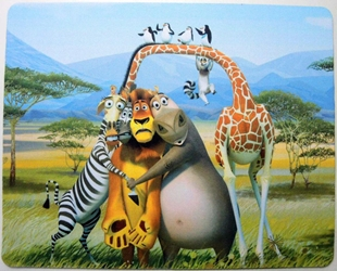 Madagascar mouse pad - Group pic on the Savanna China, Madagascar, Mouse Pads, 2015, fantasy, cartoon