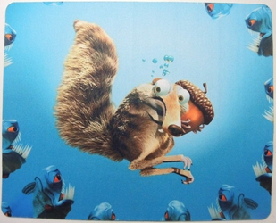 Ice Age mouse pad - Scratch Underwater China, Ice Age, Mouse Pads, 2015, dinosaurs, movie
