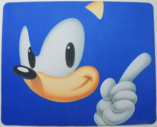 Sonic mouse pad - Sonic pointing China, Sonic, Mouse Pads, 2015, animated, video game