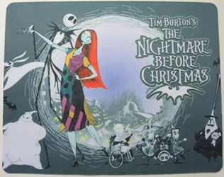Nightmare Before Christmas mouse pad - Jack & Sally dancing China, Nightmare Before Christmas, Mouse Pads, 2015, halloween, movie