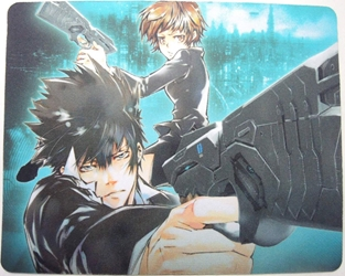 Psycho-Pass mouse pad - Shinya Kogami & Akane Tsunemori China, Psycho-Pass, Mouse Pads, 2015, crime, japan