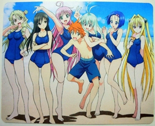 To Heart 2  mouse pad - Teasing a boy at the beach China, To Heart2, Mouse Pads, 2015, girls, japan