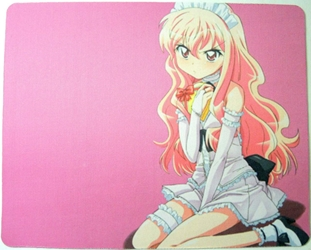 Zero Tsukaima mouse pad - An unhappy Louise in Waitress Uniform China, Zero Tsukaima, Mouse Pads, 2015, anime