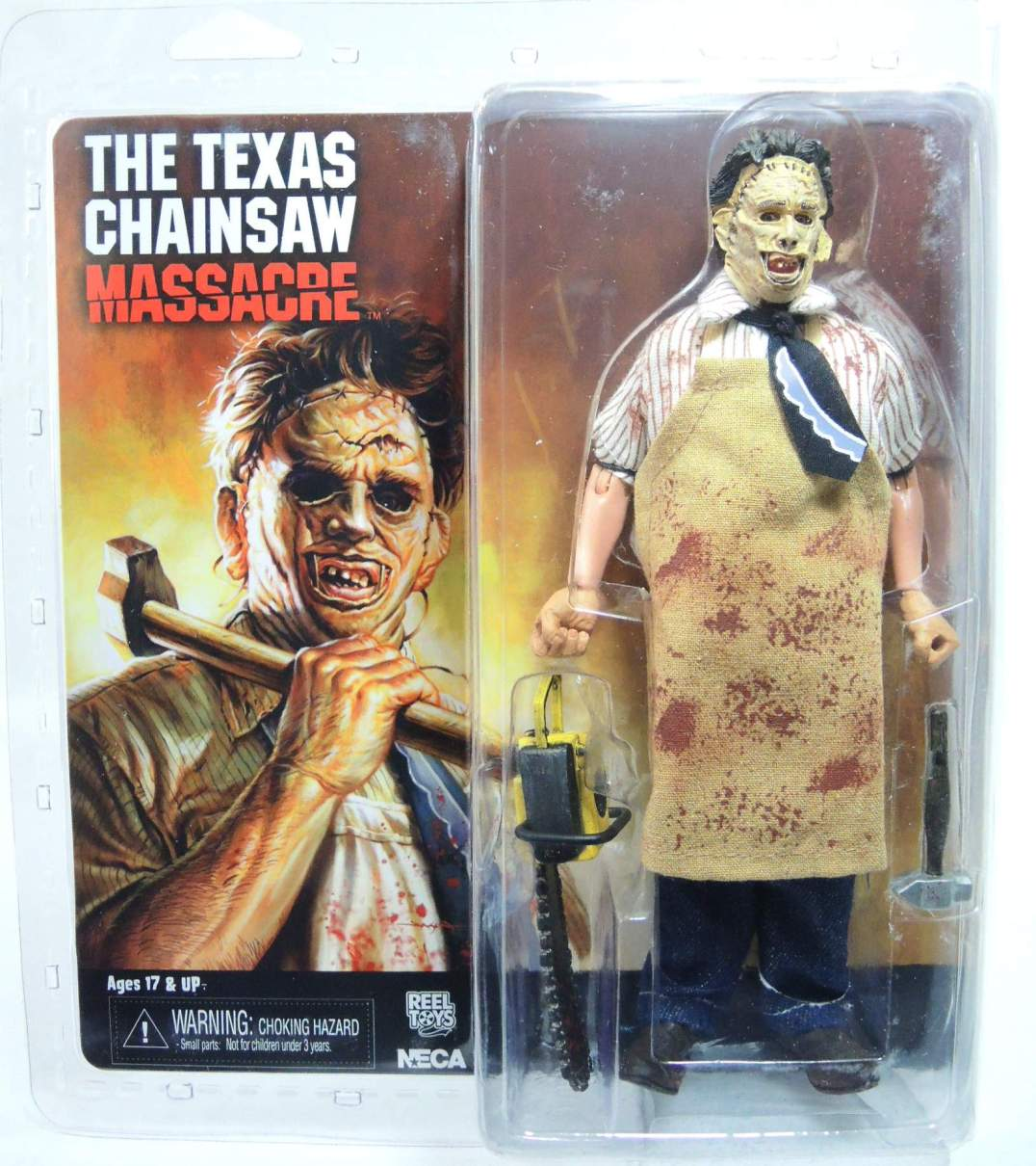 NECA Texas Chainsaw Massacre  8 inch Clothed Figure - Leatherface