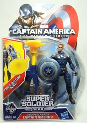 Captain America 4 inch Figure - Grapple Cannon Captain America Hasbro, Captain America, Action Figures, 2013, superhero, movie