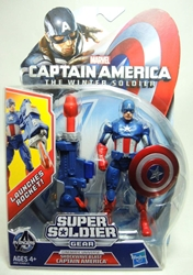 Captain America 4 inch Figure - Shockwave Blast Captain America Hasbro, Captain America, Action Figures, 2013, superhero, movie