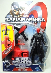 Captain America 4 inch Figure - Air Raid Red Skull Hasbro, Captain America, Action Figures, 2013, superhero, movie
