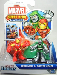 Playskool Heroes 2.5 inch Figures - Iron Man & Doctor Doom Hasbro, Marvel, Action Figures, 2012, superhero, comic book