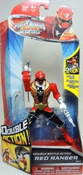 Power Rangers Super Megaforce Double Action Red Ranger (gold trim) Bandai, Power Rangers, Action Figures, 2014, scifi, tv show