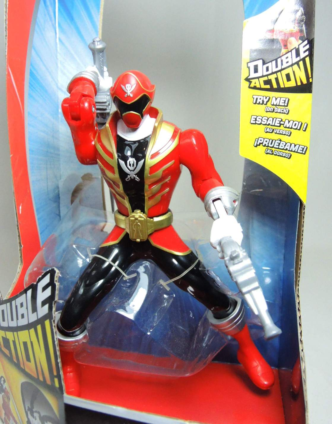 Power Rangers Super Megaforce Double Action Red Ranger (gold trim) - 8213-8210CCCTTH