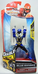 Power Rangers Super Megaforce Double Action Blue Ranger Bandai, Power Rangers, Action Figures, 2014, scifi, tv show